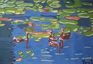 Yana Syskova; Ducks In Water, 2020, Original Painting Other, 42 x 29.7 cm. Artwork description: 241 Gouache on paper...