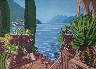 Yana Syskova; Mediterranean Lake, 2020, Original Painting Other, 42 x 29.7 cm. Artwork description: 241 Gouache on paper...