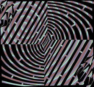 Yanito Freminoshi; Maze Of Tunnel Illusion A..., 2013, Original Digital Drawing,   inches. Artwork description: 241  Trippy looking pattern based maze created using a combination of arc- circles and lines. The maze is considered a medium difficulty level, but if you are not able to solve it on your own recognisance, then the artist has also prepared for you a ...