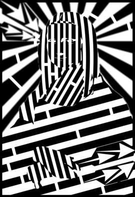 Yanito Freminoshi; Maze Of The Mona Lisa, 2013, Original Digital Drawing,   inches. Artwork description: 241  Trippy op art maze of Mona Lisa artwork, created as part of a project for one of my clients. The maze elements combined with the depth in the image make this a very unique ...
