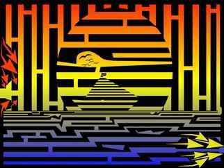 Yanito Freminoshi; Sunrise Sailing Maze, 2013, Original Digital Drawing,   inches. Artwork description: 241  Enjoy the sunrise sailing maze, by Yanito Freminoshi. This maze op art master piece of Sunrise Saling is a functional maze with solution that can be found here . The maze is very ...