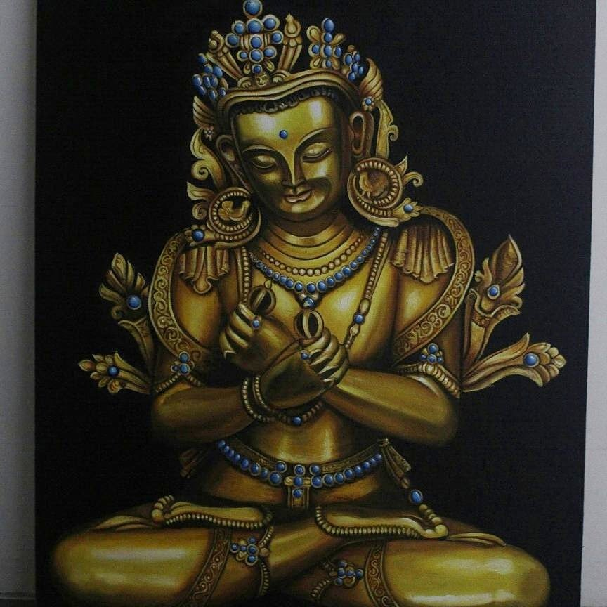Yash Shah; Buddha In Peace, 2017, Original Painting Oil, 24 x 36 inches. Artwork description: 241 It is an original Oil painting made by my self. Medium used is oil and made on canvas. ...