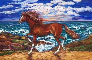 Yelena Rubin; Sunchaser, 2011, Original Painting Oil, 36 x 24 inches. Artwork description: 241  Dancing Paso Fino beautiful horse that came out from a fairytale. A horse is the projection of peoples dreams about themselves- strong, powerful, beautiful- and it has the capability of giving us escape from our mundane existence. Pam BrownEvery artwork is done using the best grade ...