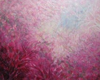 Yeoun Lee; Peak Pink Time, 2013, Original Painting Acrylic, 30 x 24 inches.