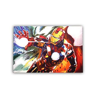 Riya Sharma; Iron Man Painting, 2016, Original Painting Oil, 90 x 60 inches. Artwork description: 241 With the world now aware of his identity as as and Iron Man  Get he comic fiction character of the Marvel series. This beautifully captured canvas will re power your believe in superheros.The canvas painting is done on a white canvas, making the background raw  and ...