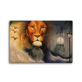 Riya Sharma; The King Painting, 2017, Original Painting Oil, 90 x 60 inches. Artwork description: 241  Roar it loud with the king of the jungle. This painting aspires for courage , faith and believe.  The canvas painting is done on a white canvas, making the background raw  and colorful . This painting is contrasted with textured ray , which makes it attractive and one of the ...