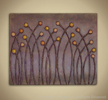 Artist: Yoshika Murakami's, title: Golden Meadow in Purple Haz..., 2008, Mixed Media