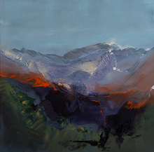 Artist: Nicholas Down's, title: Revealing the Mountain, 2014, Painting Oil
