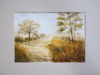 Yulia Schuster; Harvest Time, 2016, Original Watercolor, 28 x 20 cm. Artwork description: 241 This is one of my watercolour landscape paintings. Painting size 28 x 20cm set in 30 x 40 cm acid free light gray mount and ready to place in standard 30 x 40 cm frame .COMES UNFRAMEDUsing artists  quality paints and paper. It is signed and ...