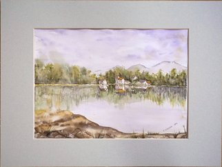 Yulia Schuster; One Summer Day, 2017, Original Watercolor, 28 x 20 cm. Artwork description: 241 This is one of my watercolour landscape paintings. Painting size 28 x 20cm set in 30 x 40 cm acid free light gray mount and ready to place in standard 30 x 40 cm frame .COMES UNFRAMEDUsing artists  quality paints and paper. It is signed and ...