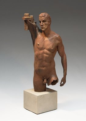 Yves  Goyatton; Aspiration, 2015, Original Sculpture Bronze, 6 x 15 inches. Artwork description: 241 2015 figurative bronze sculpture by Yves Goyatton...