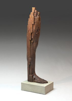 Yves  Goyatton; Untitled III, 2008, Original Sculpture Bronze, 8 x 23 inches. Artwork description: 241 Untitled III is part of a series of architectural legs made around that era in 2008 ...