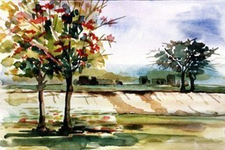 Zahir Uddin Babar Mughal; Sping, 2009, Original Watercolor, 20 x 15 inches. Artwork description: 241   favourit scene  ...