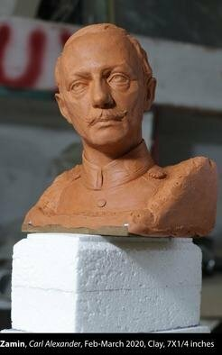 Zamin Sangtarash; Carl Alexander, 2020, Original Sculpture Clay, 5 x 7 inches. Artwork description: 241 This is a proposal for Goetheplatz in Weimar, Germany. ...