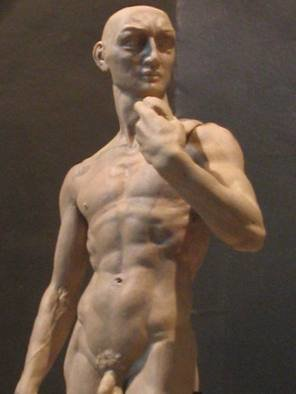 Zamin Sangtarash; David, Disoriented, 2004, Original Sculpture Other,  9 inches.