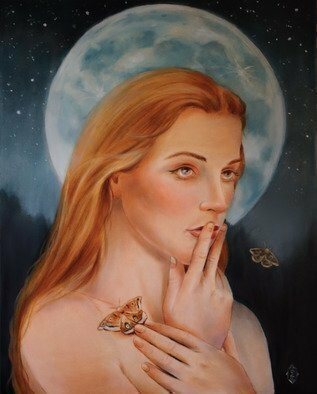 Marsha Bowers; The Moon And The Stars, 2017, Original Painting Oil, 24 x 30 inches. Artwork description: 241 Oil painting, portrait, original art, fine art, painting, contemporary art, art...