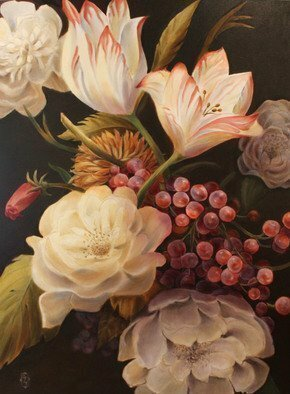 Marsha Bowers; Winter Floral, 2016, Original Painting Oil, 36 x 48 inches. Artwork description: 241 Large scale floral painting...