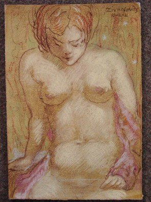 Dana Zivanovits; NUDE IN BATH, 2011, Original Pastel, 7 x 10 inches. Artwork description: 241        This pastel was done on Arches all rag acid free print paper.      ...