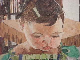 Zoraida Haibi; Isabela, 2009, Original Collage, 18 x 12 inches. Artwork description: 241  Use of magazines to create collage of child' s face. ...