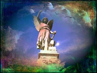 Zunilda Sarete; The Heart Is A Treasure, 2010, Original Photography Other, 14 x 11 inches. Artwork description: 241     Angel statue photomanipulation using texture and love quotes.    ...