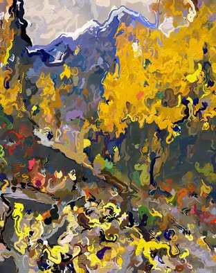 Steve Tohari; Autumn 1, 2018, Original Photography Color, 20 x 16 inches. Artwork description: 241 Aspen, Colorado, Fall colors, Aspen leaves, Maroon Bells, abstract landscape...