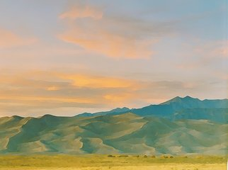 Steve Tohari; Great Sand Dunes 1, 2018, Original Photography Color, 20 x 16 inches. Artwork description: 241 Sunset, Great Sand Dunes, Colorado - photograph  edited for painted effect  Colorado, Great San Dunes, sunset , sand, dunes, painting...