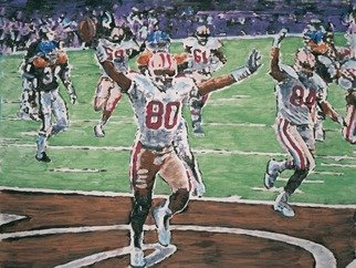 Sigmund Sieminski; Sports Poster Art, NFL Fo..., 2011, Original Painting Tempera, 30 x 22 inches. Artwork description: 241    San Francisco 49ers football poster art freeze- frames. More than 60 in the series as poster tempera and in pastel.  ...