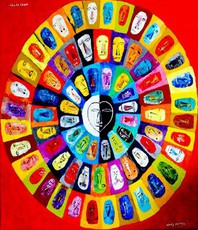 Artist: Charles Cham, Artwork Title: 2222 The Wheel Of Life, 2015-05-21. Painting Oil, Life, Request Price