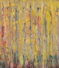 Artist: Marino Chanlatte, Artwork Title: Abstract Aspen Trees, 2016-02-02. Painting Oil, Abstract Landscape, $420