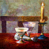 Vladimir Volosov, Candle On The Table, Still Life, $ 945