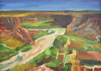 Artist: Tomoe Nakamura, Artwork Title: Canyon De Chilly Study, 2015-08-28. Painting Oil, Landscape, $630