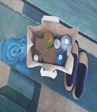 Artist: Denise Dalzell, Artwork Title: Chaperone, 2015-04-16. Painting Acrylic, Representational, $1,470