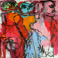 Engelina Zandstra, Composition 4035, Abstract Figurative, $ 1,155
