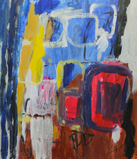 Artist: Engelina Zandstra, Artwork Title: Composition 4108, 2015-03-31. Painting Acrylic, Abstract Figurative, $1,575