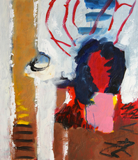 Artist: Engelina Zandstra, Artwork Title: Composition 4142, 2015-04-20. Painting Acrylic, Abstract Figurative, $682