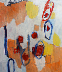 Artist: Engelina Zandstra, Artwork Title: Composition 4311, 2015-10-03. Painting Acrylic, Abstract Figurative, $1,470