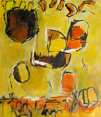 Artist: Engelina Zandstra, Artwork Title: Composition 4337, 2015-11-26. Painting Acrylic, Abstract Figurative, $1,575