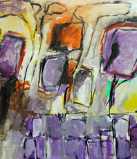 Artist: Engelina Zandstra, Artwork Title: Composition 4407, 2016-02-10. Painting Acrylic, Abstract Figurative, $1,522
