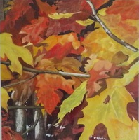 Artist: Guy Octaaf Moreaux, Artwork Title: Fall 2014, 2015-01-28. Painting Oil, Nature, Request Price