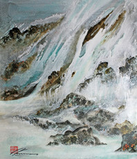 Artist: Walther Von Krenner, Artwork Title: Falling Water, 2015-11-26. Painting Acrylic, Abstract, $4,882