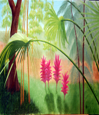 Artist: Lora Vannoord, Artwork Title: Florida Garden, 2015-04-25. Painting Oil, Garden, $262