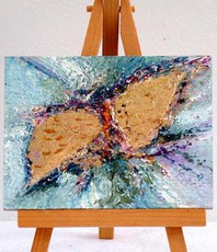 Artist: Valda Fitzpatrick, Artwork Title: Fly Like A Butterfly , 2015-11-24. Painting Oil, Floral, $21