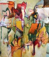 Artist: Arthur Bernard, Artwork Title: Folding Chairs, 2015-04-25. Mixed Media, Abstract Figurative, $4,095