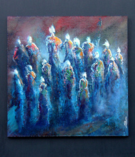 Artist: Jean-Luc Lacroix, Artwork Title: Hymne Painting, 2016-02-10. Painting Acrylic, Mystical, $472