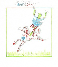 Artist: Marina Montanaro, Artwork Title: Happy 4th Of July 2015, 2015-07-04. Watercolor, Comics, $262