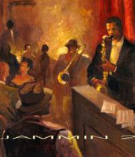 Artist: Ron Anderson, Artwork Title: Jammin 2, 2015-09-04. Painting Oil, Music, $2,314