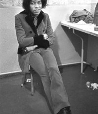 Artist: Paul Berriff, Artwork Title: Jimi Hendrix Backstage, 2016-02-03. Photography Black and White, Music, $1,260