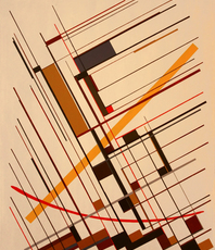 Artist: Anders Hingel, Artwork Title: Linear Extensions , 2015-11-28. Printmaking Giclee - Open Edition, Abstract, $1,260