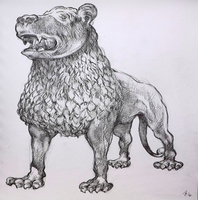Austen Pinkerton, Lion Sculpture In Victori, Animals, $ 735