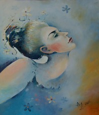 Artist: Anita Zotkina, Artwork Title: Longing For Harmony , 2015-06-29. Painting Oil, People, $630
